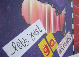 Let's just go already! (detail from my art journal)
