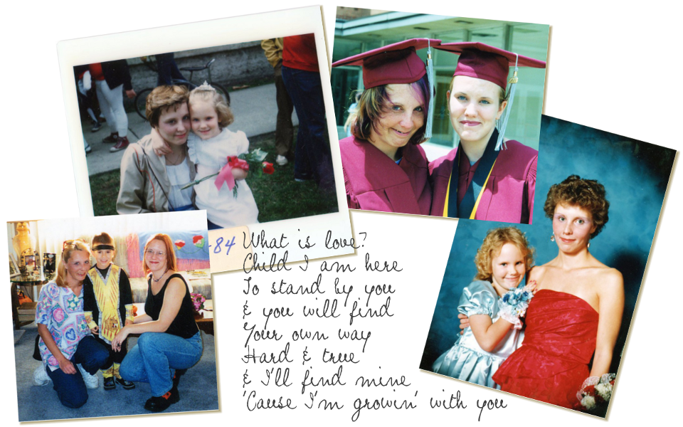 Photocollage of Mum, my brother and me