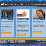 site design for AlphaDog.net