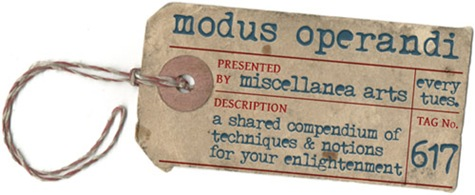modus operandi - every tuesday